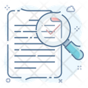 Search Sheet Text Finding Keyword Research Icon