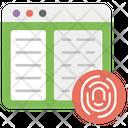 Content Security Content Verification Web Security Icon