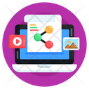 Online Content Sharing Content Sharing Data Sharing Icon