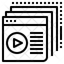 Content Website Video Icon