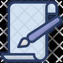 Content Writing Blogging Content Development Icon