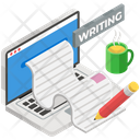 Web Blogging Content Writing Journal Icon