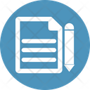 Agreement Content Content Writing Icon