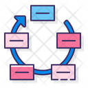 Continuous Cycle Work Cycle Task Cycle Icon