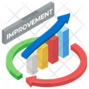 Continuous Improvement Growth Chart Business Analytics Icon