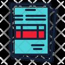 Contract Document Data Icon