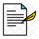 Contract Government Document File Icon