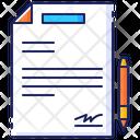 Business Contract Signature Icon