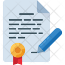 Contract Document File Icon