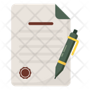 Contract Meeting Signature Icon