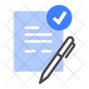 Contract Agreement Document Icon