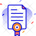 Contract Certificate Award Icon