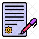 Contract Agreement Corporate File Icon