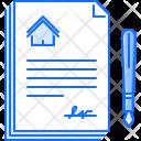 Contract Paper Pen Icon