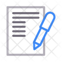 Contract File Sign Icon