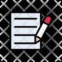 Contract Signature File Icon