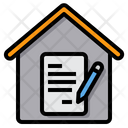 Contract Sign Working At Home Icon