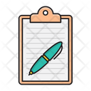 Contract Sign Clipboard Icon