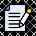 Contract Edit File Icon