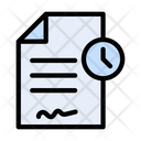 Contract Time Document Icon