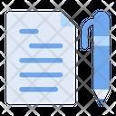 Document File Pen Icon