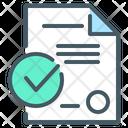 Check Mark Contract Document Icon
