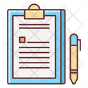 Contract Agreement Briefing Icon