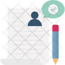 Contract Document Interview Icon
