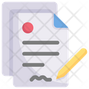 Business Marketing Contract Icon