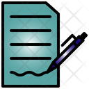 Contract Note Pen Icon