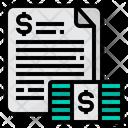 Contract Cash Money Icon