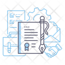 Contract Cooperation Collaboration Icon