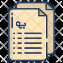 Contract Agreement Document Icon