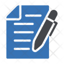 Contract Sign Document Icon