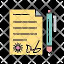 Contract Adjust Balance Analysis Icon