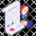 Contract Affidavit Agreement Icon