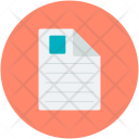 Contract Document Sheet Icon
