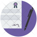 Contract Agreement Sign Icon