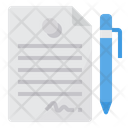 Contract Document Paper Icon