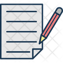 Contract Cv File Icon