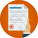 Contract Deal Sign Icon