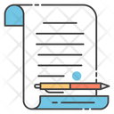 Contract Document Official Document Business Record Icon