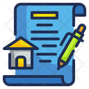 Contract House Home Contract Mortgage Property Icon
