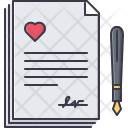 Contract Marriage Pen Icon