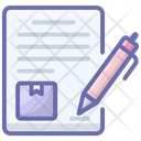Contract Agreement Delivery Contract Icon