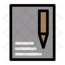 Edit File Stationery Paper Icon