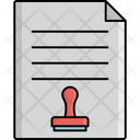 Contract Paper Stamp Paper Agreement Paper Icon