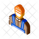 Bricklayer Mason Brick Icon