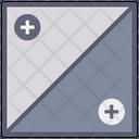 Contrast Half Square Icon
