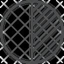 Color Contrast Circle Contrast Circle Icon